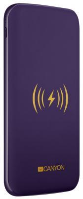 Фото - Внешний аккумулятор Power Bank 8000 мАч Canyon CNS-TPBW8P фиолетовый внешний аккумулятор power torch 8000 мач глянцевый белый