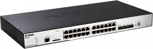 Коммутатор D-LINK DGS-3120-24TC/B1ARI управляемый 2+ уровня 20 портов 10/100/1000GbLAN 4xCombo GbLAN/SFP коммутатор d link dgs 3120 48pc b1ari dgs 3120 48pc b1ari