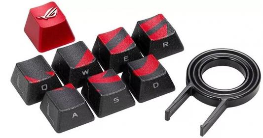 Клавиатура проводная ASUS - черный красный