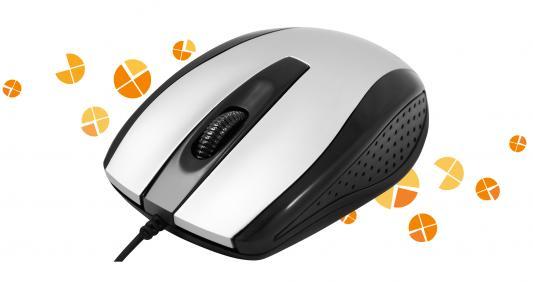 Мышь проводная DEFENDER Optimum MM-140 серебристый чёрный USB 52140
