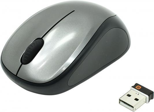 все цены на Мышь беспроводная Logitech M235 серый чёрный USB 910-003146/910-002201 онлайн