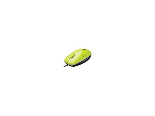 Мышь Logitech LS1 acid-yellow Laser USB (910-001111)