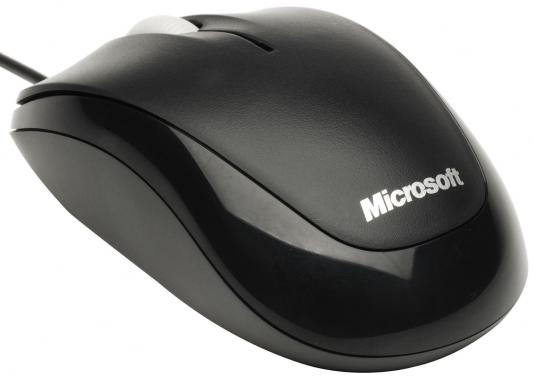 Мышь проводная Microsoft Compact Optical Mouse 500 чёрный USB 4HH-00002 weyes ms 929 wired 6 key usb 2 0 800 1000 1600 2400dpi optical gaming mouse black green