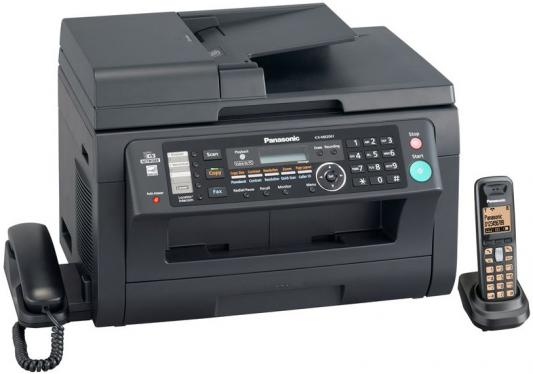 МФУ Panasonic лазерное KX-MB2061RUB (принтер/сканер/копир/факс) черное, автоподатчик, Dect, LAN