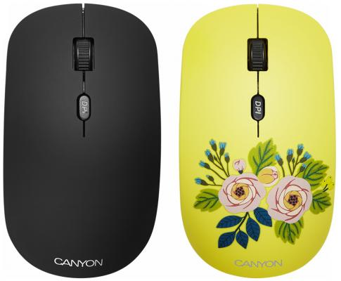 CANYON2.4GHz wireless Optical Mouse with 4 buttons, DPI 800/1200/1600, 1 additional cover(Penguin),