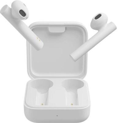 Гарнитура вкладыши Xiaomi Mi True Wireless Earphones 2 Basic белый беспроводные bluetooth (в ушной раковине) гарнитура xiaomi mi true wireless earphones 2 basic bluetooth вкладыши белый [bhr4089gl]