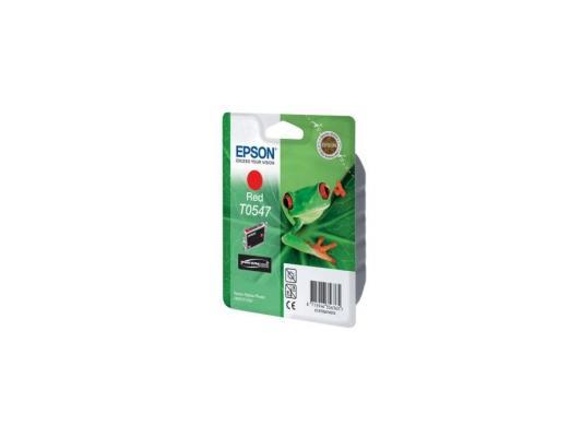 Картридж Epson SP R800 (красный) (C13T05474010) принтер струйный epson l312