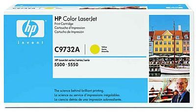 Тонер-картридж HP C9732A yellow for Color LaserJet 5500 hp cn624ae yellow