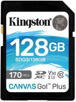 Фото - Kingston 128GB SDXC Canvas Go Plus 170R C10 UHS-I U3 V30 EAN: 740617301458 флеш карта sd 128gb kingston sdxc class 10 uhs i u3 v30 canvas go plus 170mb s