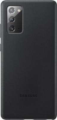 Фото - Чехол (клип-кейс) Samsung для Samsung Galaxy Note 20 Leather Cover черный (EF-VN980LBEGRU) чехол клип кейс samsung galaxy note 20 ultra silicone cover белый ef pn985twegru