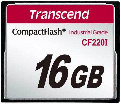 Фото - Промышленная карта памяти CompactFlash Transcend 220I, 16 Гб SLC, темп. режим от -40? до +85? промышленная карта памяти compactflash transcend 220i 1 гб slc темп режим от 40 до 85