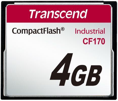 Фото - Промышленная карта памяти CompactFlash Transcend 170, 4 Гб MLC, темп. режим от -25? до +85? промышленная карта памяти compactflash transcend 220i 1 гб slc темп режим от 40 до 85