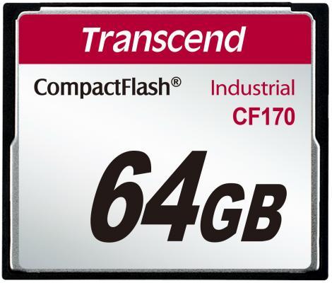 Фото - Промышленная карта памяти CompactFlash Transcend 170, 64 Гб MLC, темп. режим от -25? до +85? промышленная карта памяти compactflash transcend 220i 1 гб slc темп режим от 40 до 85