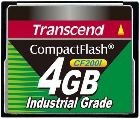 Фото - Промышленная карта памяти CompactFlash Transcend 200I, 4 Гб SLC, темп. режим от -40? до +85? промышленная карта памяти compactflash transcend 220i 1 гб slc темп режим от 40 до 85