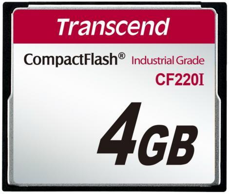Фото - Промышленная карта памяти CompactFlash Transcend 220I, 4 Гб SLC, темп. режим от -40? до +85? промышленная карта памяти compactflash transcend 220i 1 гб slc темп режим от 40 до 85