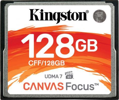 Фото - Карта памяти Compact Flash Kingston Canvas Focus, 128 Гб карта памяти compact flash kingston canvas focus 128 гб