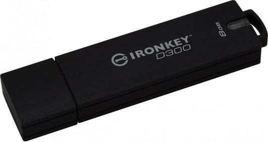 Фото - Флешка 8Gb Kingston IronKey D300S Basic USB 3.1 черный флешка apacer ah333 8gb 8 гб белый