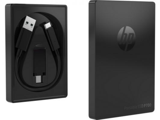 Фото - Портативный твердотельный накопитель HP P700, USB 3.1 gen.2 / USB Type-C / USB Type-A, OTG, 512 Гб, R1000/W1000, Черный внешний ssd hp p700 512gb 5ms29aa 512 гб черный