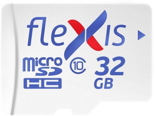 Фото - Карта памяти microSDHC Flexis, 32 Гб, UHS-I Class 10 U1, без адаптера карта памяти microsdhc uhs i u1 dato 16 гб 40 мб с class 10 dttf016guic10 1 шт