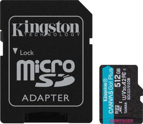 Фото - Карта памяти microSDXC Canvas Go Plus, 512 Гб, UHS-I, U3, V30, A2, с адаптером benefit hippie go lucky набор миниатюр в косметичке hippie go lucky набор миниатюр в косметичке