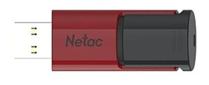 Флеш Диск Netac U182 Red 16Gb <NT03U182N-016G-30RE>, USB3.0, сдвижной корпус, пластиковая чёрно-красная