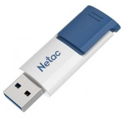 Флеш Диск Netac U182 Blue 16Gb <NT03U182N-016G-30BL>, USB3.0, сдвижной корпус, пластиковая бело-синяя