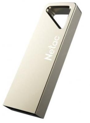 Фото - Флеш Диск Netac U326 32Gb <NT03U326N-032G-20PN>, USB2.0, металлическая плоская флеш накопитель netac u182 32gb nt03u182n 032g 30re