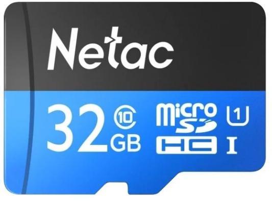 Фото - Флеш карта microSDHC 32GB Netac P500 <NT02P500STN-032G-S> (без SD адаптера) 80MB/s флеш накопитель netac u182 32gb nt03u182n 032g 30re