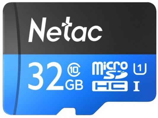Фото - Флеш карта microSDHC 32GB Netac P500 <NT02P500STN-032G-R> (с SD адаптером) 80MB/s флеш накопитель netac u182 32gb nt03u182n 032g 30re