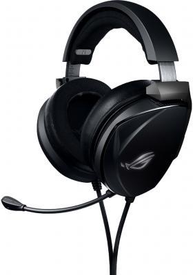 Игровые наушники ASUS ROG Theta Electret черные (3.5 мм jack, Hi-Fi, неодимовые магниты, 32 Ом, 20 ~ 20000 Гц, микрофон, дополнительные амбушюры, 90YH02GE-B1UA00)