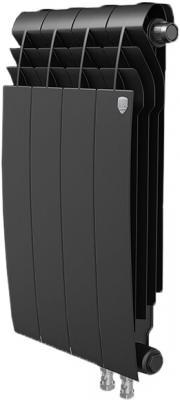 Радиатор Royal Thermo BiLiner 350 /Noir Sable VR - 4 секц. биметаллический радиатор rifar рифар b 500 нп 10 сек лев кол во секций 10 мощность вт 2040 подключение левое