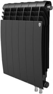 Радиатор Royal Thermo BiLiner 500 /Noir Sable VR - 12 секц. биметаллический радиатор rifar рифар b 500 нп 10 сек лев кол во секций 10 мощность вт 2040 подключение левое