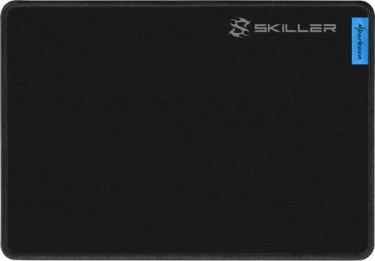 Игровой коврик для мыши Sharkoon SGP1 M чёрный (280 x 195 2,5 мм, обмётка, текстиль, резина)