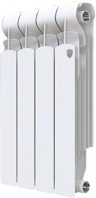 Радиатор Royal Thermo Indigo Super+ 500 - 4 секц. биметаллический радиатор rifar рифар b 500 нп 10 сек лев кол во секций 10 мощность вт 2040 подключение левое