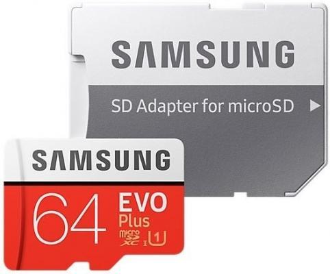 Фото - microSDXC 64GB Samsung EVO Plus Memory Card Samsung MB-MC64HA/RU UHS-I U1 Class 10, Adapter, 100/90 MB/s, 10000 циклов, - 25°C to 85°C, RTL {10} (168277) карта памяти samsung 64gb evo plus v2 microsdxc class 10 u1 sd adapter mb mc64ha