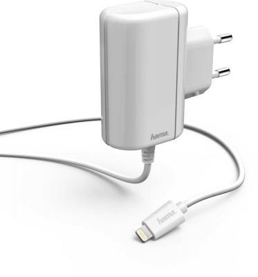 Фото - Сетевое зарядное устройство HAMA H-178262 8-pin Lightning 2.4А белый сетевое зарядное устройство adam elements omnia f1 usb type c 8 pin lightning apple 3a белый