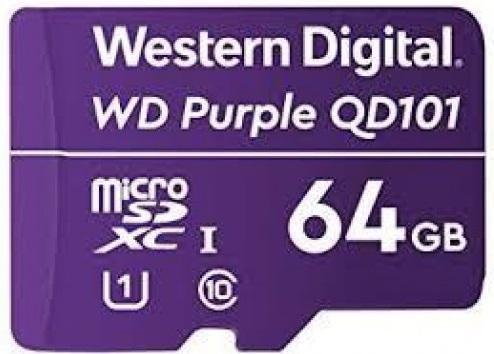 Фото - Флеш карта microSDXC 64Gb Class10 WD WDD064G1P0C Purple w/o adapter флеш карта microsdxc 128gb class10 sandisk sdsquns 128g gn6mn ultra 80 w o adapter