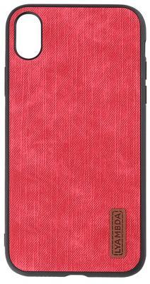 Накладка Lyambda Reya для iPhone XS красный LA07-RE-XS-RD платье oodji ultra цвет красный белый 14001071 13 46148 4512s размер xs 42 170