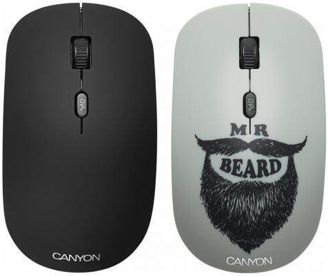 Фото - CANYON 2.4GHz wireless Optical Mouse with 4 buttons, DPI 800/1200/1600, 1 additional cover(Beard), canyon2 4ghz wireless optical mouse with 4 buttons dpi 800 1200 1600 1 additional cover penguin