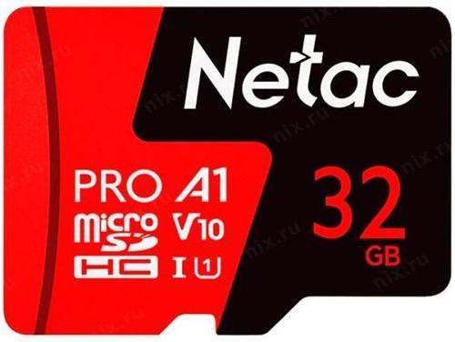 Фото - Netac MicroSD card P500 Extreme Pro 32GB, retail version w/o SD adapter netac usb drive u278 usb3 0 32gb retail version