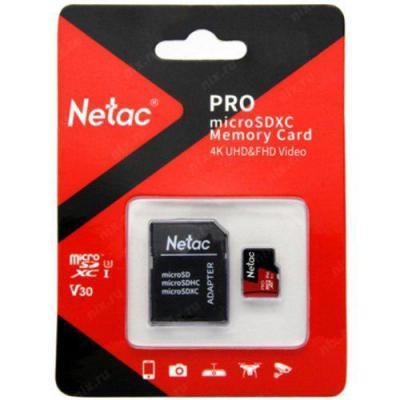 Фото - Netac MicroSD card P500 Extreme Pro 64GB, retail version w/SD adapter видеокарта gigabyte geforce gt 710 gv n710d5sl 2gl pci e 2048mb 64 bit retail