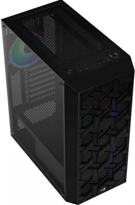 Корпус Aerocool Hive-G-BK-v2 черный без БП ATX 4x120mm 2x140mm 1xUSB2.0 2xUSB3.0 audio bott PSU