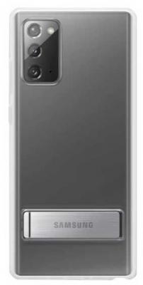 Фото - Чехол (клип-кейс) Samsung для Samsung Galaxy Note 20 Clear Standing Cover прозрачный (EF-JN980CTEGRU) чехол клип кейс samsung galaxy note 20 ultra silicone cover белый ef pn985twegru