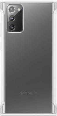Фото - Чехол (клип-кейс) Samsung для Samsung Galaxy Note 20 Clear Protective Cover белый (EF-GN980CWEGRU) чехол клип кейс samsung galaxy note 20 ultra silicone cover белый ef pn985twegru