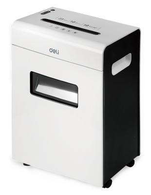 Шредер Deli 9902 белый (секр.P-4)/фрагменты/10лист./23лтр./скрепки/скобы/пл.карты
