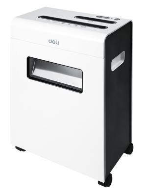 Шредер Deli E9911-EU белый (секр.P-4)/фрагменты/8лист./16лтр./скрепки/скобы/пл.карты/CD