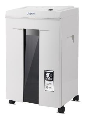 Шредер Deli 9912 (секр.P-5)/фрагменты/6лист./20лтр./скрепки/скобы/пл.карты/CD