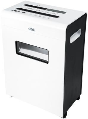 Шредер Deli E9903-EU белый/черный (секр.P-4)/фрагменты/12лист./23лтр./скрепки/скобы/пл.карты/CD