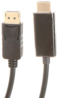 Фото - Кабель HDMI DisplayPort 1.8м Exegate EX-CC-DP-HDMI-1.8 круглый черный EX284915RUS кабель hdmi 3м exegate ex194333rus круглый черный