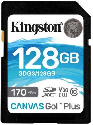 Фото - Флеш карта SD 128GB Kingston SDXC Class 10 UHS-I U3 V30 Canvas Go Plus 170MB/s карта памяти compact flash kingston canvas focus 128 гб